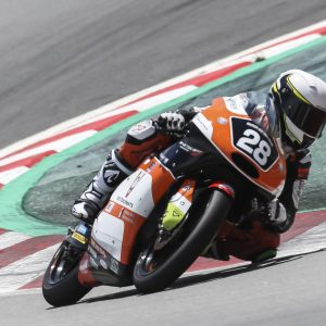 Faber met Dutch Racing Team in actie tijdens Junior-WK Moto3 op Catalunya